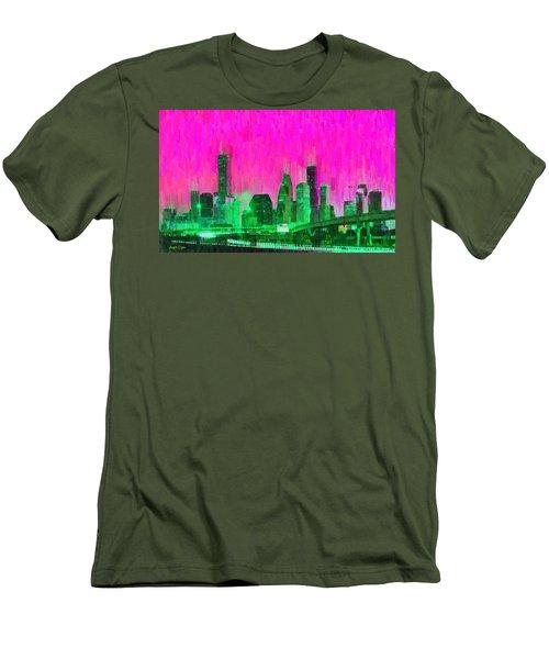Houston Skyline 90 - Pa Men's T-Shirt (Athletic Fit)