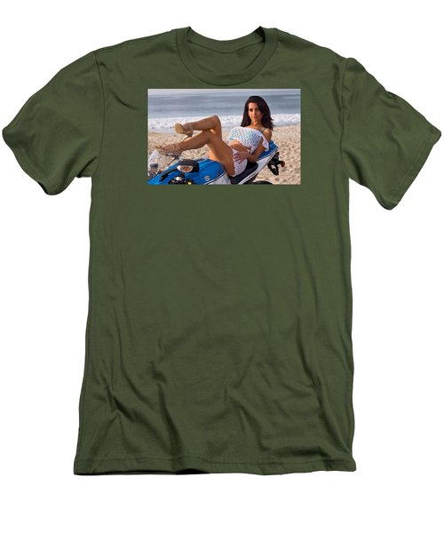Men's T-Shirt (Slim Fit) featuring the photograph How About Those Legs? by Lawrence Christopher