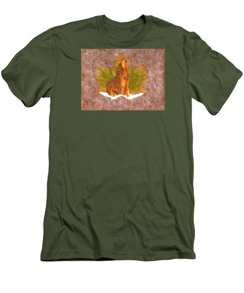 Howling Wolf Men's T-Shirt (Slim Fit) by Ralph Root