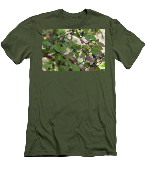 Men's T-Shirt (Athletic Fit) featuring the photograph Huckleberries by Fran Riley