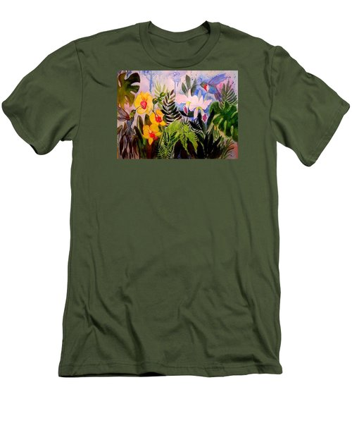 Hummers And Orchids Men's T-Shirt (Athletic Fit)