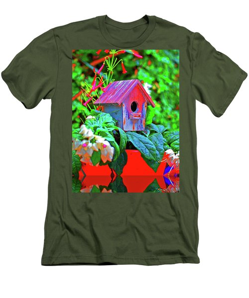 Humming Bird House Men's T-Shirt (Athletic Fit)
