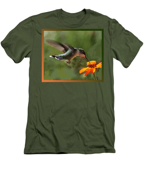 Hummingbird Art Men's T-Shirt (Athletic Fit)