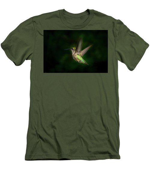 Hummingbird B Men's T-Shirt (Athletic Fit)