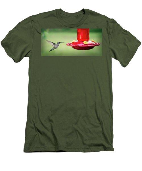 Hummingbird Men's T-Shirt (Slim Fit) by Denis Lemay