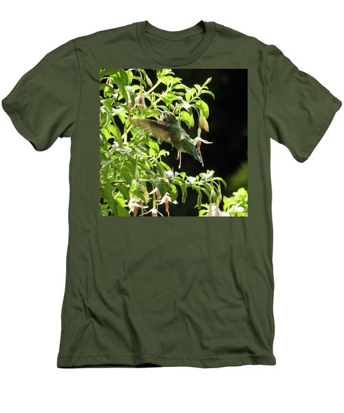 Hummingbird Feeding Men's T-Shirt (Slim Fit)