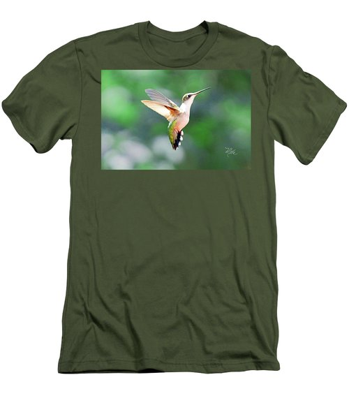 Hummingbird Hovering Men's T-Shirt (Athletic Fit)