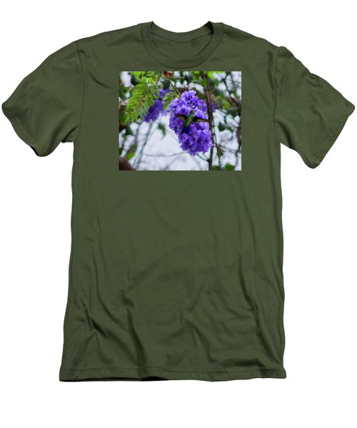 Hummingbird In A Jacaranda Tree Men's T-Shirt (Athletic Fit)