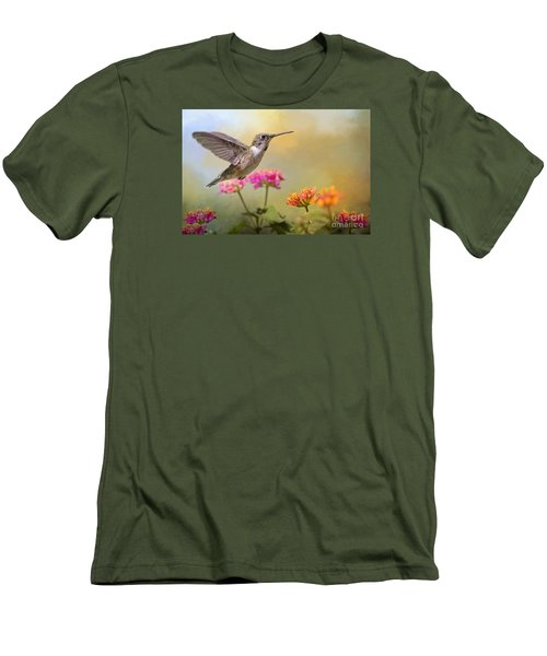 Hummingbird In The Garden Men's T-Shirt (Athletic Fit)