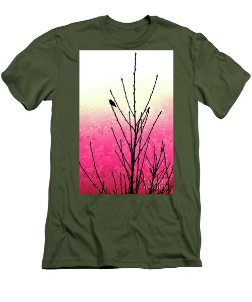 Hummingbird Valentine Men's T-Shirt (Athletic Fit)