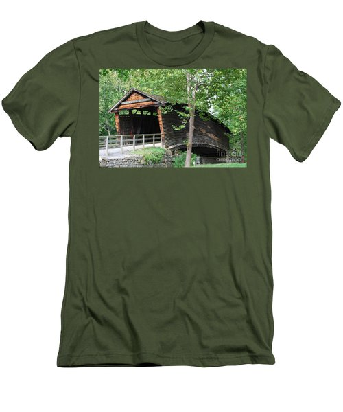 Men's T-Shirt (Slim Fit) featuring the photograph Humpback Bridge by Eric Liller