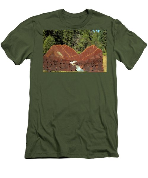 Hyalite Canyon Sculpture Men's T-Shirt (Athletic Fit)