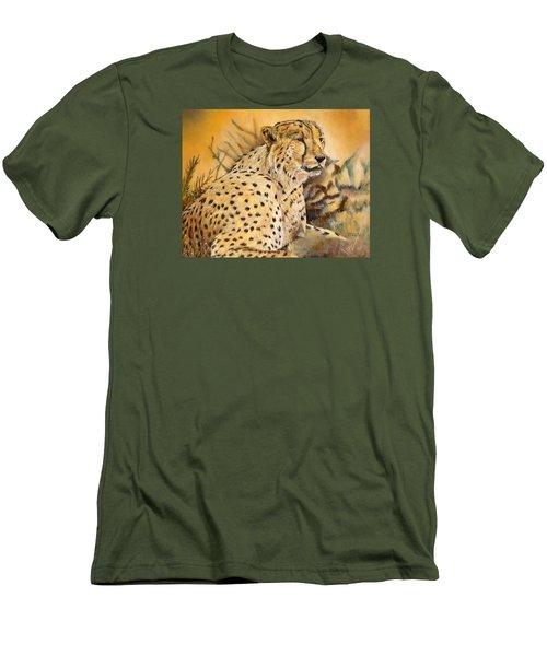 I Am Cheetah Men's T-Shirt (Slim Fit) by Marilyn  McNish