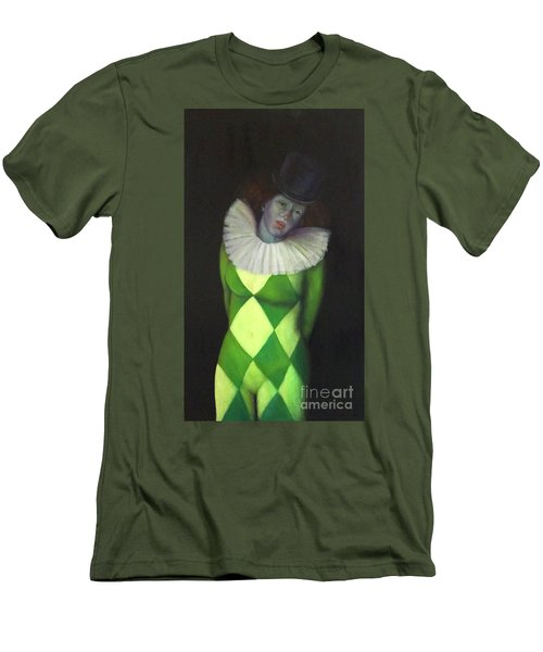 Men's T-Shirt (Athletic Fit) featuring the painting I Am by Marlene Book
