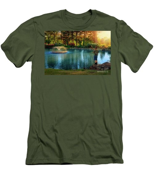 I Could Be Fishing Men's T-Shirt (Athletic Fit)