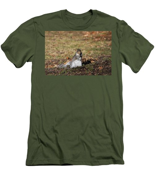Men's T-Shirt (Athletic Fit) featuring the photograph I Found Something To Eat... by Vadim Levin
