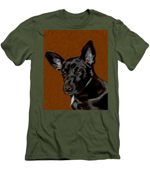 I Hear Ya - Dog Painting Men's T-Shirt (Slim Fit) by Patricia Barmatz