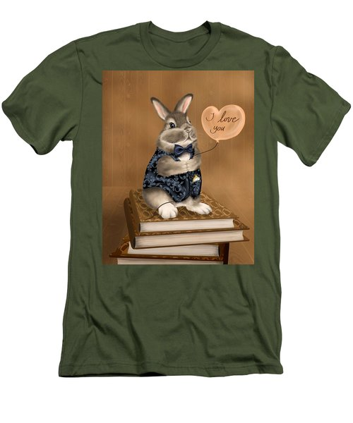 Men's T-Shirt (Slim Fit) featuring the painting I Love You by Veronica Minozzi
