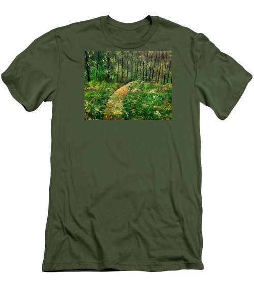 I Think It's Time For Our Walk Men's T-Shirt (Slim Fit) by Lisa Aerts