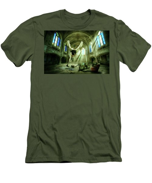 Men's T-Shirt (Slim Fit) featuring the digital art I Want To Brake Free by Nathan Wright