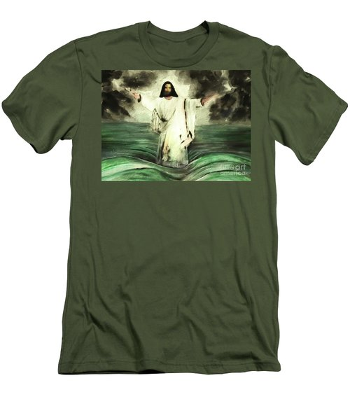 I Am Will Calm Your Sea Men's T-Shirt (Athletic Fit)