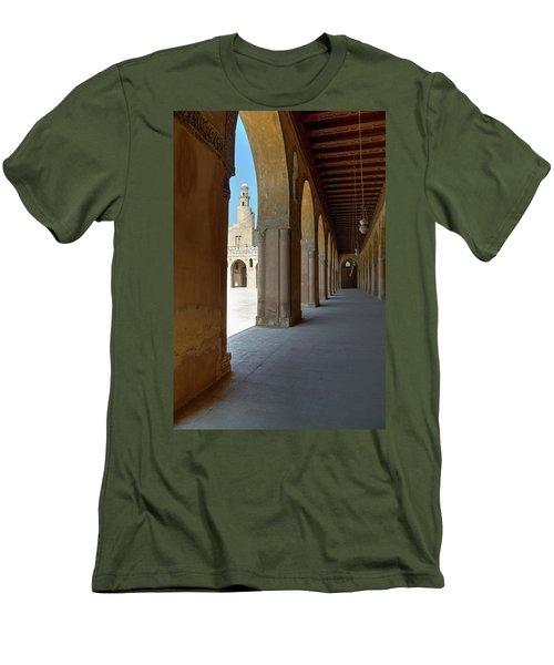 Men's T-Shirt (Slim Fit) featuring the photograph Ibn Tulun Great Mosque by Nigel Fletcher-Jones