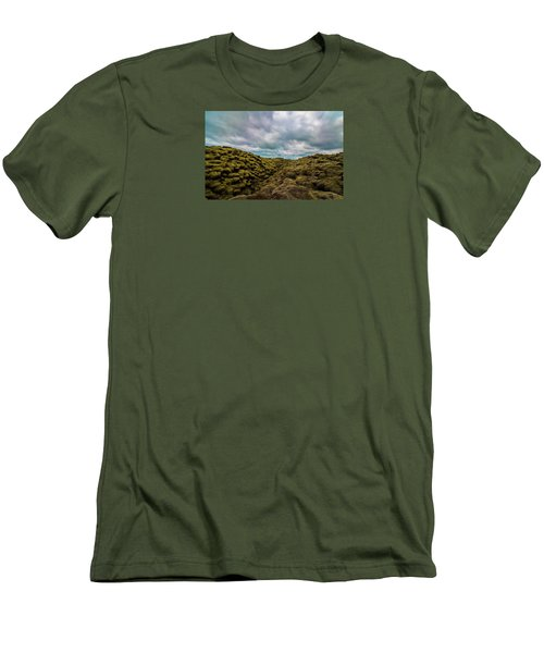 Iceland Moss And Clouds Men's T-Shirt (Athletic Fit)