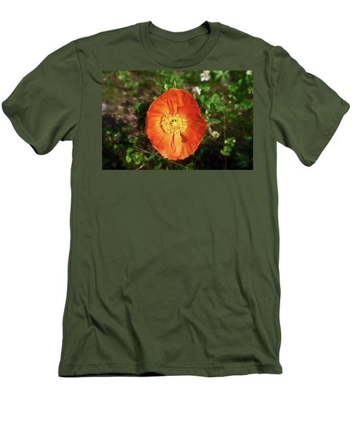 Men's T-Shirt (Slim Fit) featuring the photograph Iceland Poppy by Sally Weigand