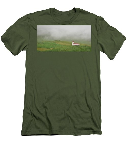Icelandic Chapel Men's T-Shirt (Slim Fit) by Joe Bonita