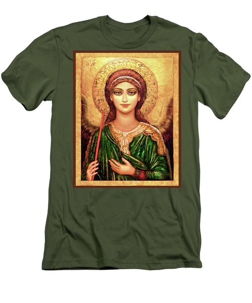 Icon Angel In Green Men's T-Shirt (Athletic Fit)