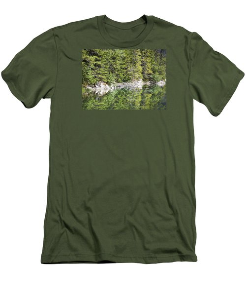 Icy Lake Reflections Men's T-Shirt (Athletic Fit)
