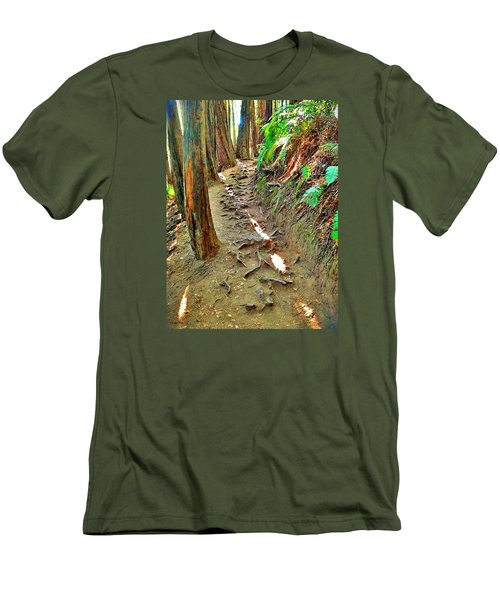 Men's T-Shirt (Slim Fit) featuring the photograph I'd Rather Be Hiking by Kathy Kelly