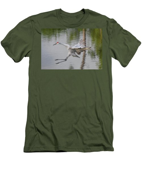 Ike The Crane's Grouchy Day Men's T-Shirt (Athletic Fit)