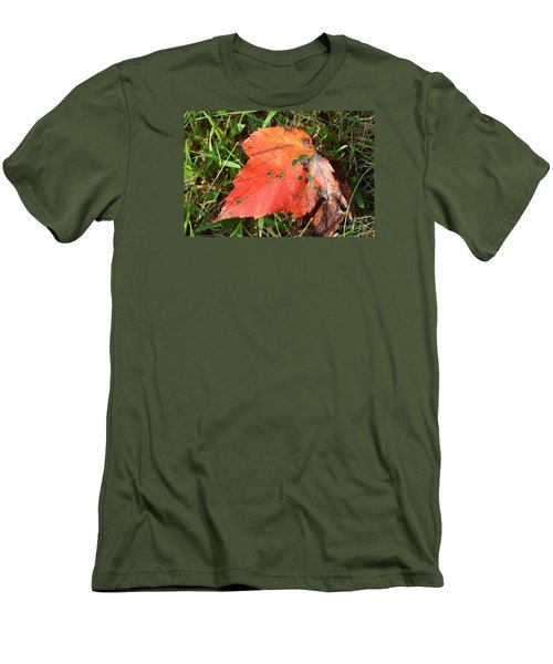 Men's T-Shirt (Slim Fit) featuring the photograph I'm Leafing This Place by Lew Davis