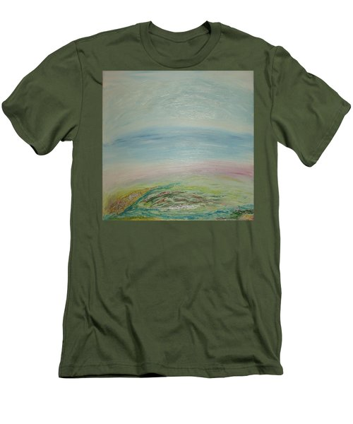 Imagination 7. Landscape. Three Dimensions. View From The Sky. Men's T-Shirt (Athletic Fit)