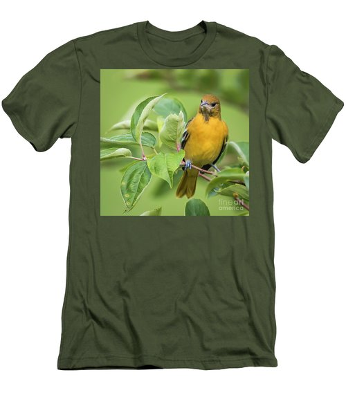 Immature Baltimore Oriole  Men's T-Shirt (Slim Fit) by Ricky L Jones