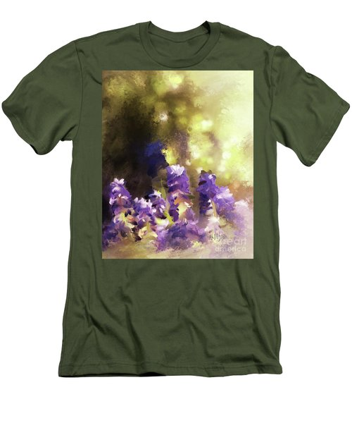 Men's T-Shirt (Athletic Fit) featuring the digital art Impressions Of Muscari by Lois Bryan