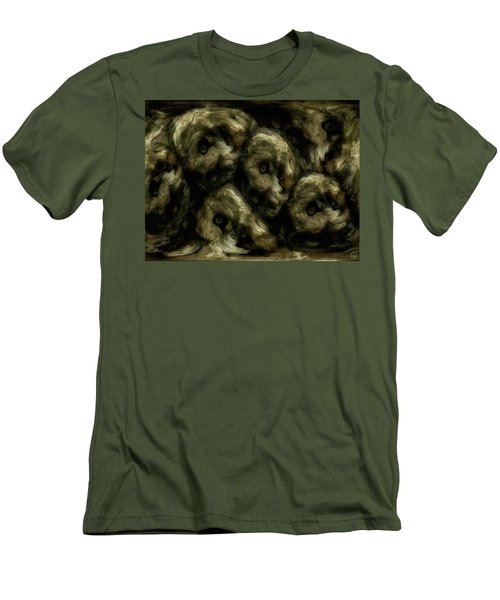 Men's T-Shirt (Slim Fit) featuring the digital art In A Swedish Troll Forest by Gun Legler