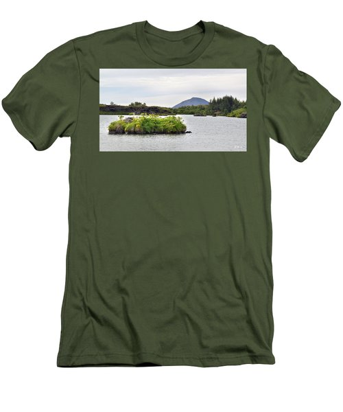 Men's T-Shirt (Slim Fit) featuring the photograph In An Iceland Lake by Joe Bonita