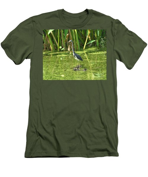 Men's T-Shirt (Slim Fit) featuring the photograph In Green Soup by Carol  Bradley