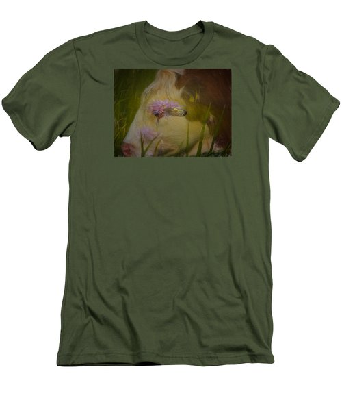 Men's T-Shirt (Slim Fit) featuring the photograph In The Head Of A Cow by Leif Sohlman