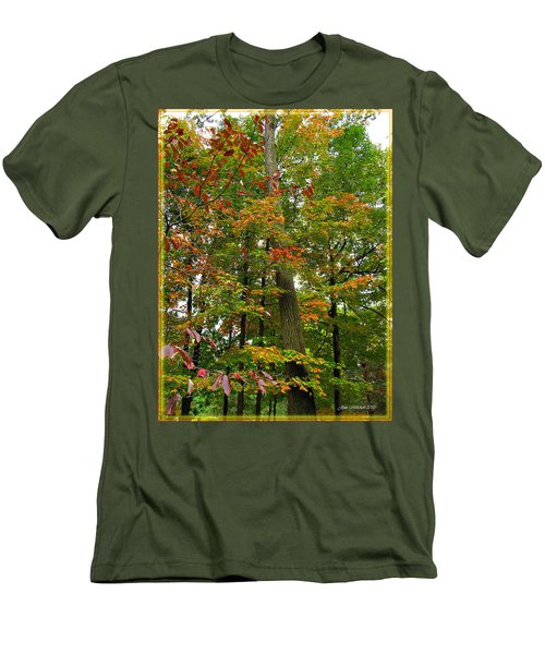Men's T-Shirt (Slim Fit) featuring the photograph In The Height Of Autumn by Joan  Minchak