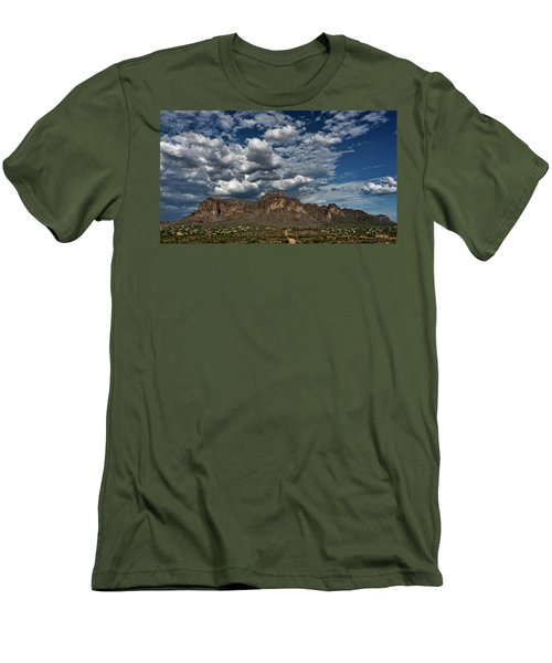 Men's T-Shirt (Athletic Fit) featuring the photograph In The Midst Of The Superstitions  by Saija Lehtonen