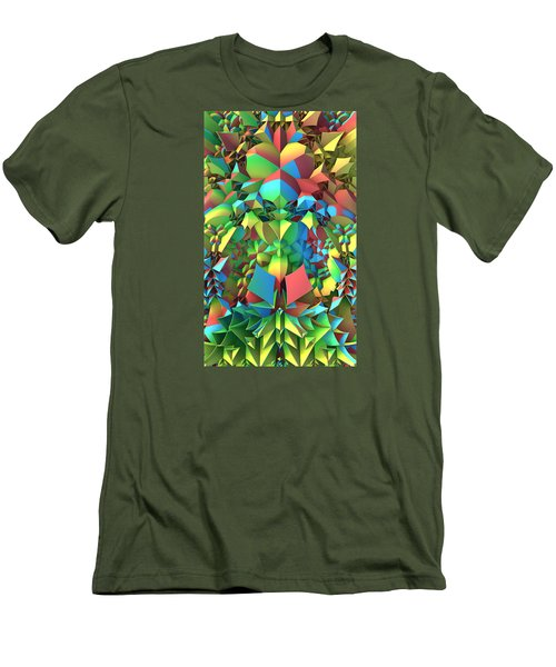 Men's T-Shirt (Slim Fit) featuring the digital art In The Tropics by Lyle Hatch
