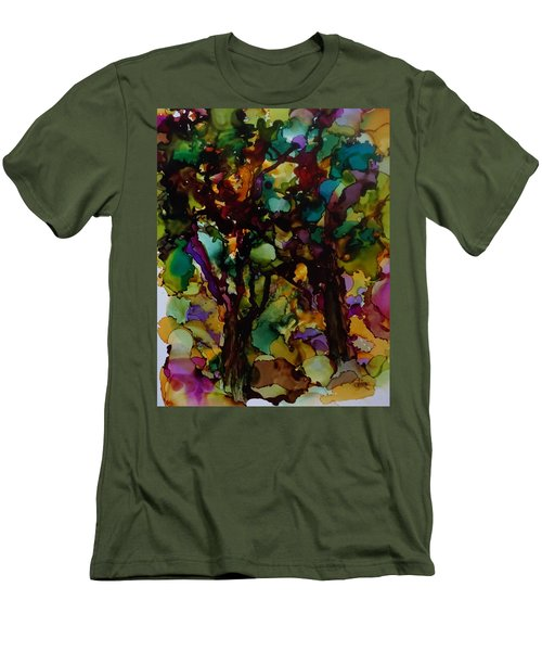 In The Woods Men's T-Shirt (Slim Fit) by Alika Kumar