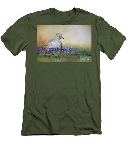 Men's T-Shirt (Slim Fit) featuring the photograph Inca Dove  by Bonnie Barry