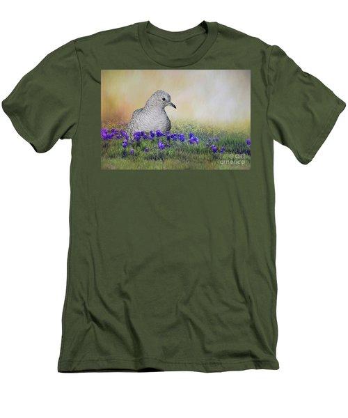 Inca Dove  Men's T-Shirt (Slim Fit) by Bonnie Barry