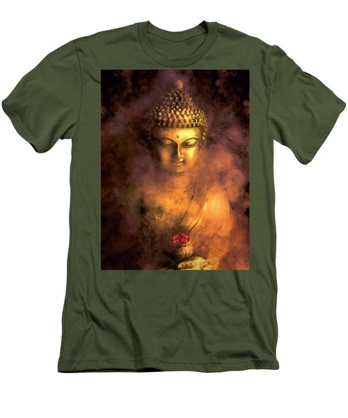 Men's T-Shirt (Slim Fit) featuring the photograph Incense Buddha by Daniel Hagerman