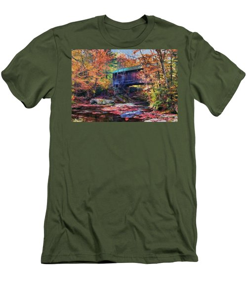 Men's T-Shirt (Slim Fit) featuring the digital art Indian Summer by John Selmer Sr