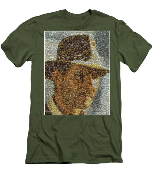Men's T-Shirt (Slim Fit) featuring the mixed media Indiana Jones Treasure Coins Mosaic by Paul Van Scott